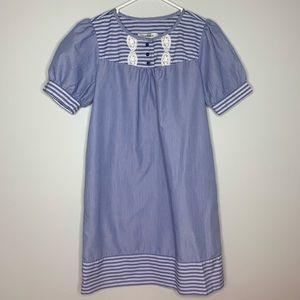 Blue striped Tibi Dress.